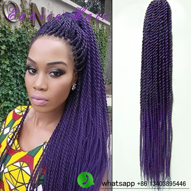 Crochet Hairstyles 2017 : Twist Braid Hair 2017 new Hairstyles 20strands/piece synthetic crochet ...