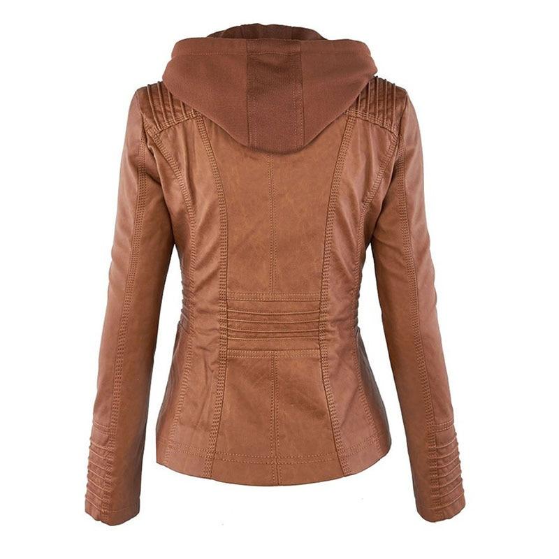 HTB1HrtPaVY7gK0jSZKzq6yikpXaZ Faux Leather Jacket Women 2021 Basic Jacket Coat Female Winter Motorcycle Jacket Faux Leather Suede PU Zipper Hoodies Outerwear