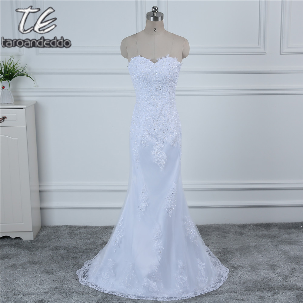 In stock white ivory applique lace with beading wedding for In stock wedding dresses