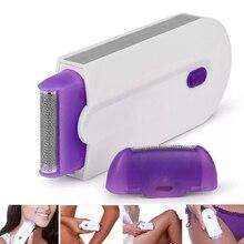 2 в 1 Электрический эпилятор для удаления волос, безболезненный женский эпилятор, бритва, мгновенный и безболезненный Бесплатный сенсорный светильник, зарядка через USB