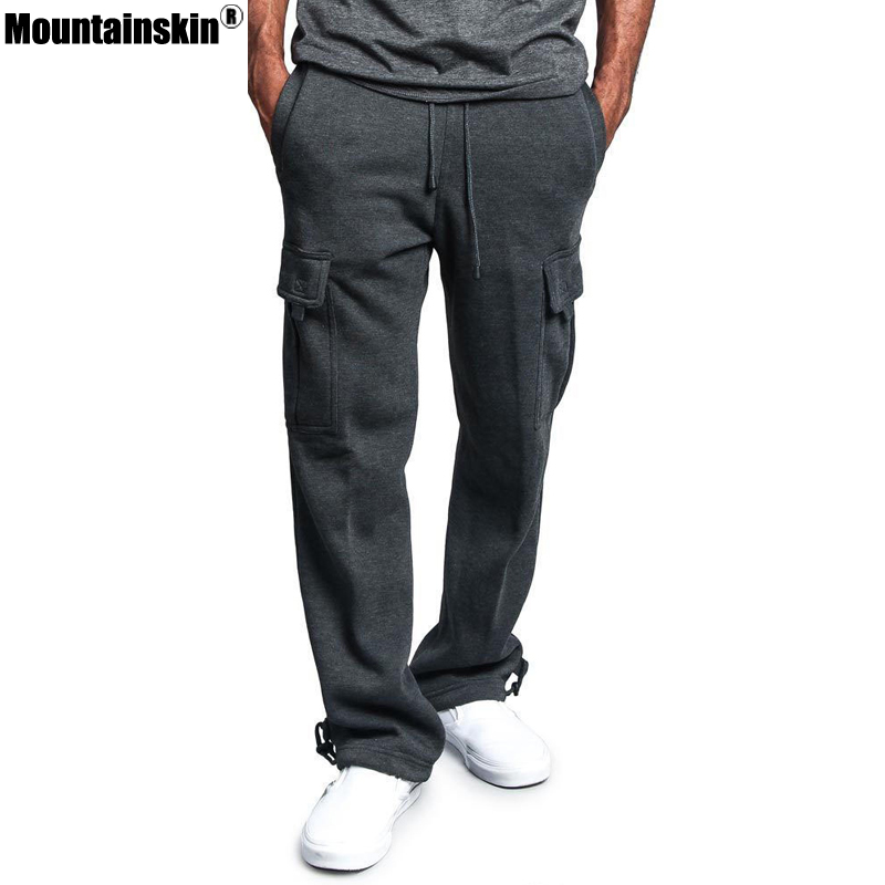 Mountainskin New Spring Sportswear Mens Pants Elastic Waist Sweatpants Loose Pockets Male Pant Joggers Casual Trousers SA622