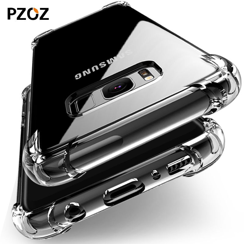 PZOZ 대한 Samsung Note 9 Case S9 S8 Silicone Luxury Shockproof Clear 대 한 Galaxy S9 S8 Plus Case Cover Note9 S9plus S8plus Phone
