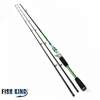 FISH KING 99% Carbon Lure Fishing Rod 2.4m Hard 2 Section With One Baitcasting/Spinnering Rod Olta Vara De Pesca Acesorios shop