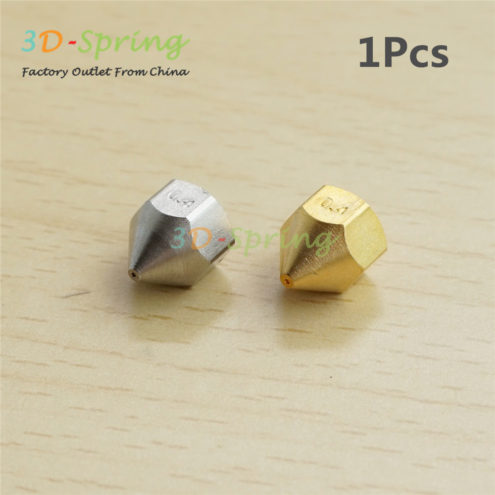 1Pcs 3D Printer Blantyre era Nozzle 0.4mm For Bore 4.1mm Screw thread M6 Brass / Stainless steel Print Head High Quality