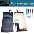 1 pc/lote cor preta de alta qualidade para acer liquid z500 lcd display + touch screen digitador assembléia frete grátis