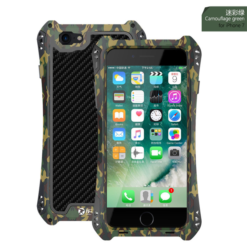 I7 R JUST AMILA Phone Case For iPhone 7 Case Cover For iPhone 7 Plus Outdoor Water Shock Dust proof Bumper Case Coque Capa Funda