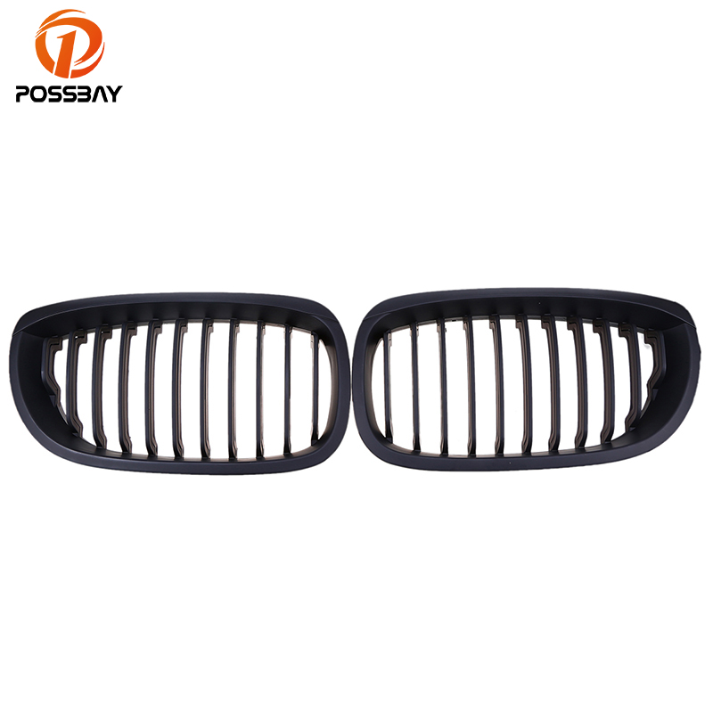 POSSBAY Car Kidney Front Center Grill Grilles for BMW 3-Series E46 325Ci/330Cd/330Ci/M3 CSL Coupe 2003 2004 2005 2006 Facelift for bmw e53 x5 2004 2006 4dr lci facelift car front grille grills car styling covers grilles