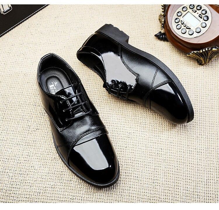 Bout Pointu Hommes D'affaires En Chaussures Noir Cuir Classique 554 Nouveau 2017 Mode Robe 8nU0H0R