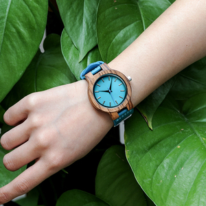 Image 5 - BOBO BIRD Women Watches Zebra Wooden Timepieces Turquoise Blue Men Watch Lovers Great Gifts Relogio Masculino Drop Shipping