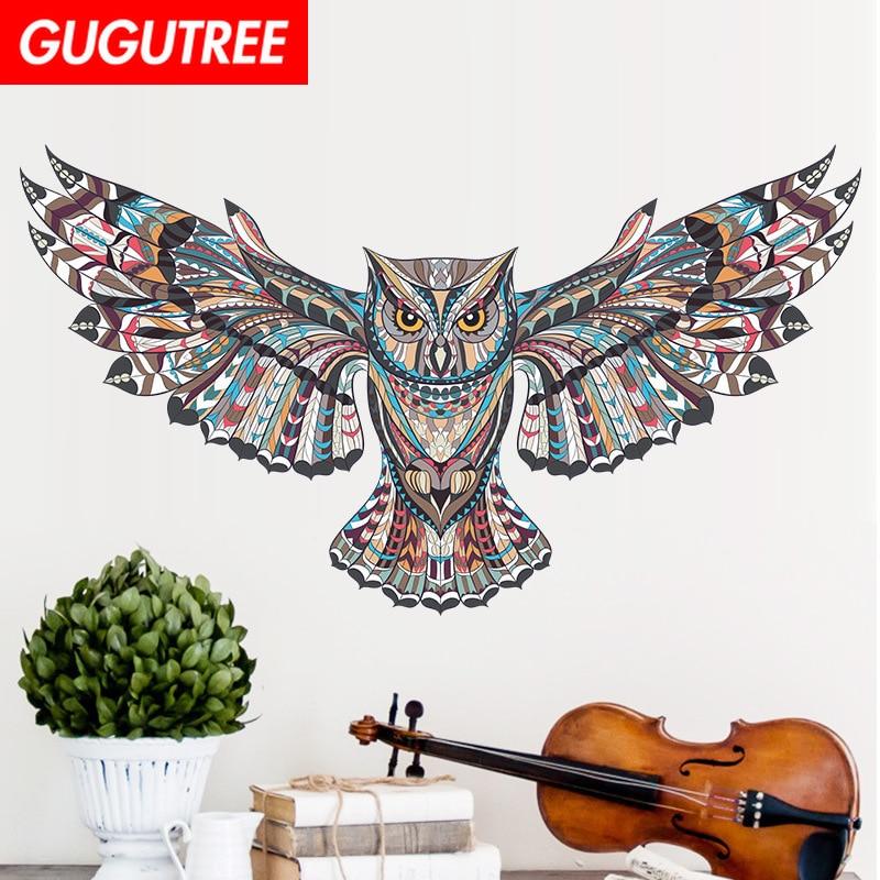 Decorate 45x60cm cartoon owl art wall sticker decoration Decals mural painting Removable Decor Wallpaper LF-166