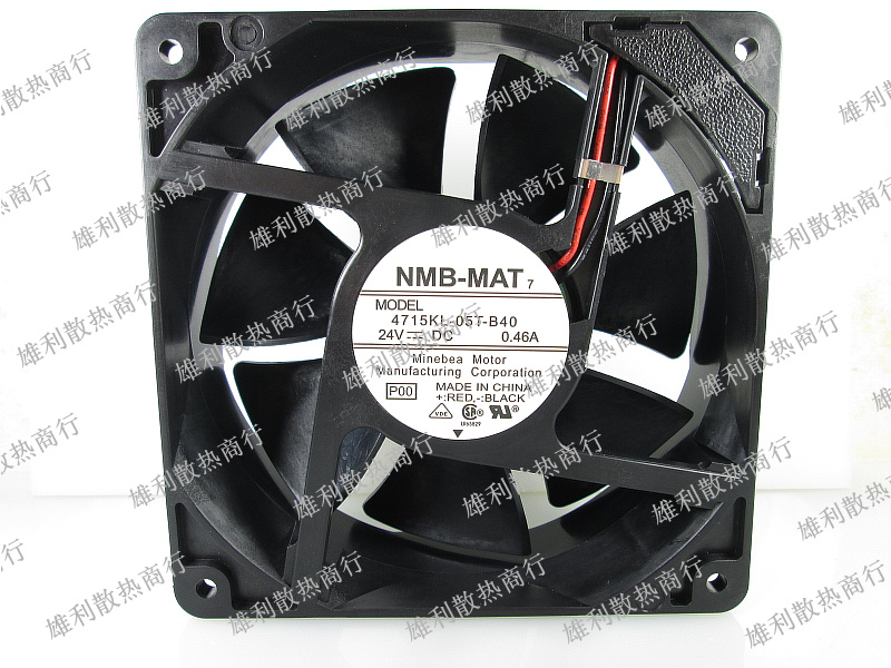 Free Delivery.4715KL-05T-B40 24V 0.46A 12CM 12038 Inverter Double Ball Fan new original wfb1224he broo 12038 12cm 24v 0 50a 3 wire inverter fan