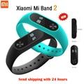 Оригинал Xiaomi Mi Группа 2 Miband Wistband Браслет Smart Сердечного Ритма Фитнес Сенсорная Панель Экран OLED Дисплей Для iPhone 7 Bluetooth