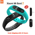 Original xiaomi mi banda 2 miband pulseira wistband inteligente da frequência cardíaca de fitness oled screen display para iphone 7 touchpad bluetooth