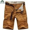 Afs jeep homens verão shorts homme moda casual shorts da carga de algodão moletom masculino multi-bolsos bermuda masculina dos homens curta