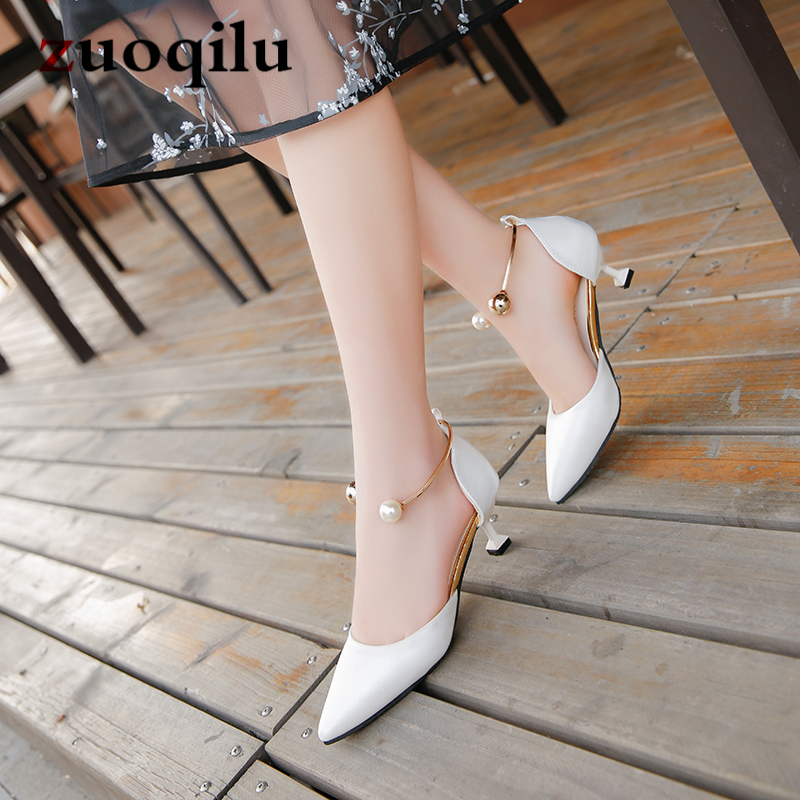 2019 Spring Fashion Wine Glasses With Shallow Mouth Set Women's Shoes With Metal Shoes