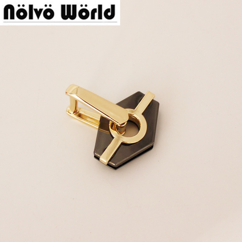 20pcs geometric handle Connector both sides of the screw bag handle buckle hardware accessories D-rings connector hanger bags