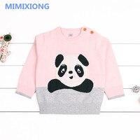Adorable Panda Newborn Baby Girl Sweaters Autumn Winter Warm Outewear Infant Kids Knitwear Tops Cotton Toddler