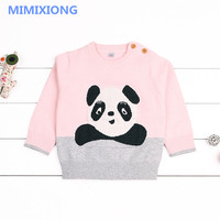 Adorable Panda Newborn Baby Girl Sweaters Autumn Winter Warm Outewear Infant Kids Knitwear Tops Cotton Toddler