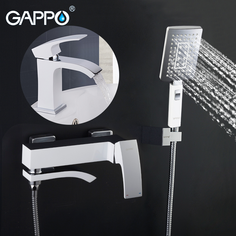 GAPPO white Shower Faucets bathroom shower mixer bath tub taps basin faucet basin sink water tap water mixers nieneng big discount basin washroom mixer bathroom faucet tap mixers wc sanitary ware water toilet taps polished chrome icd60157