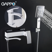 GAPPO white Shower Faucets bathroom shower mixer bath tub taps basin faucet basin sink water tap water mixers