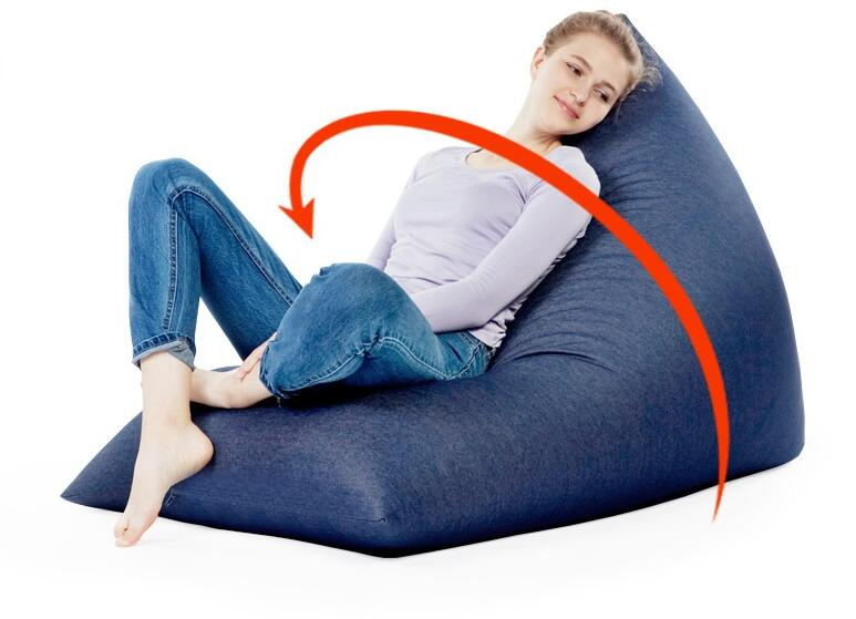Lazy sofa new creative T - type tatami denim fabric dumplings leisure sofa-living room back support rest bean bag chair - COVER children dinosaur bean bag lazy sofa comfortable living room leisure bean bag sofa students kids tatami chair