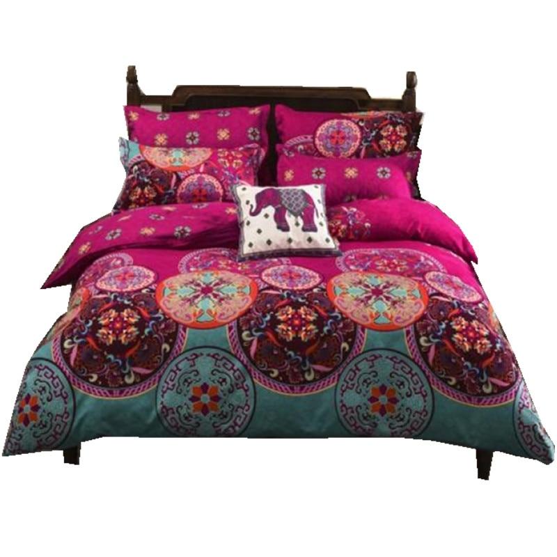 4 3pcs3d Bedding Sets Sham Boho Mandala Duvet Cover Set