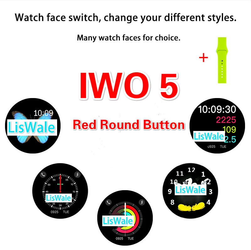 Smart Watch IWO 1:1 Upgrade 5th Generation Heart Rate Smartwatch IWO 5 Wearable Device For iOS Android VS IWO 3 4