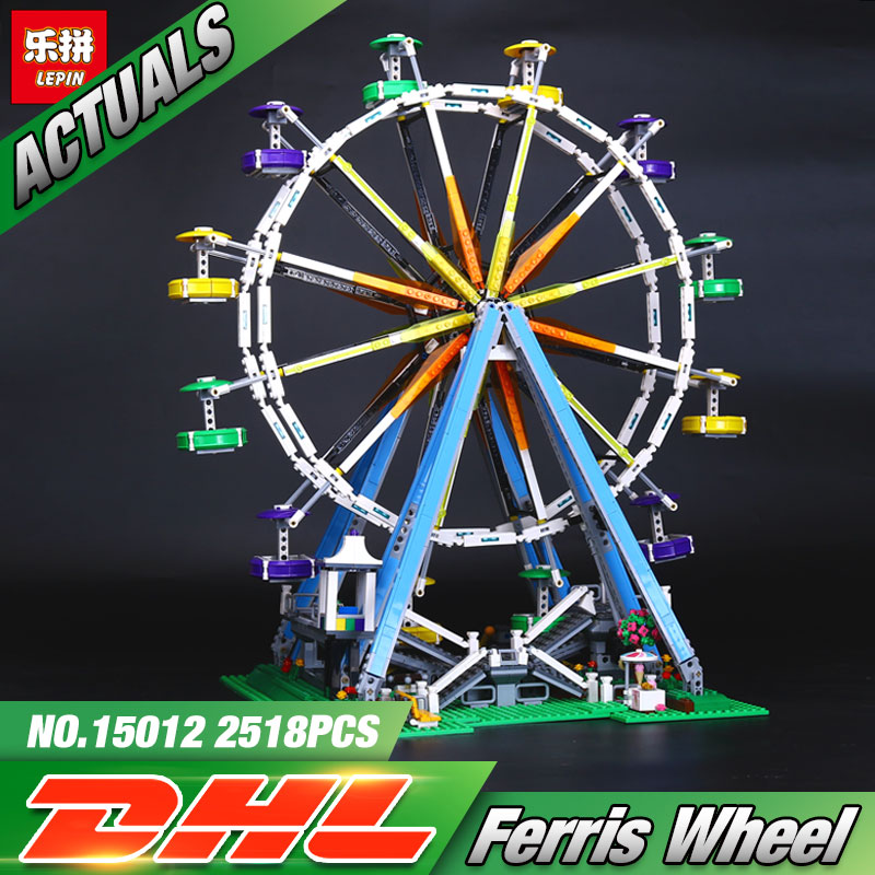 DHL LEPIN 15012 2478Pcs City Expert Ferris Wheel Model Building Kits Blocks Bricks Kid Toys Compatible 10247 Model Toys Gifts freywille часы freywille am 400hl1 1