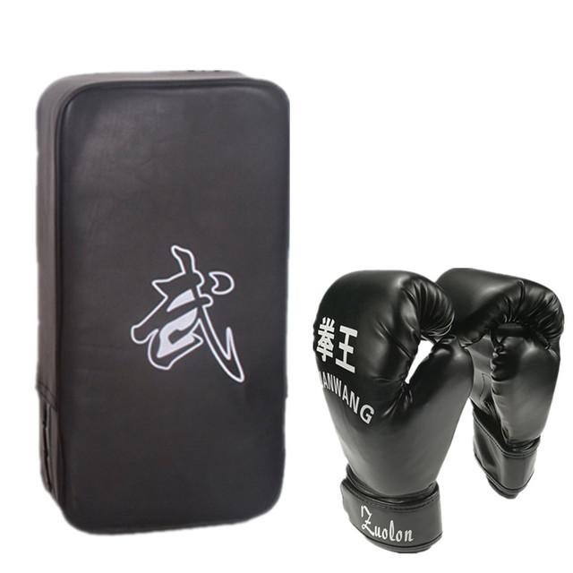 boxing gloves & muay thai foot target pads guantes de boxeo training sport fighting boxeo kick boxing mma muay thai gloves