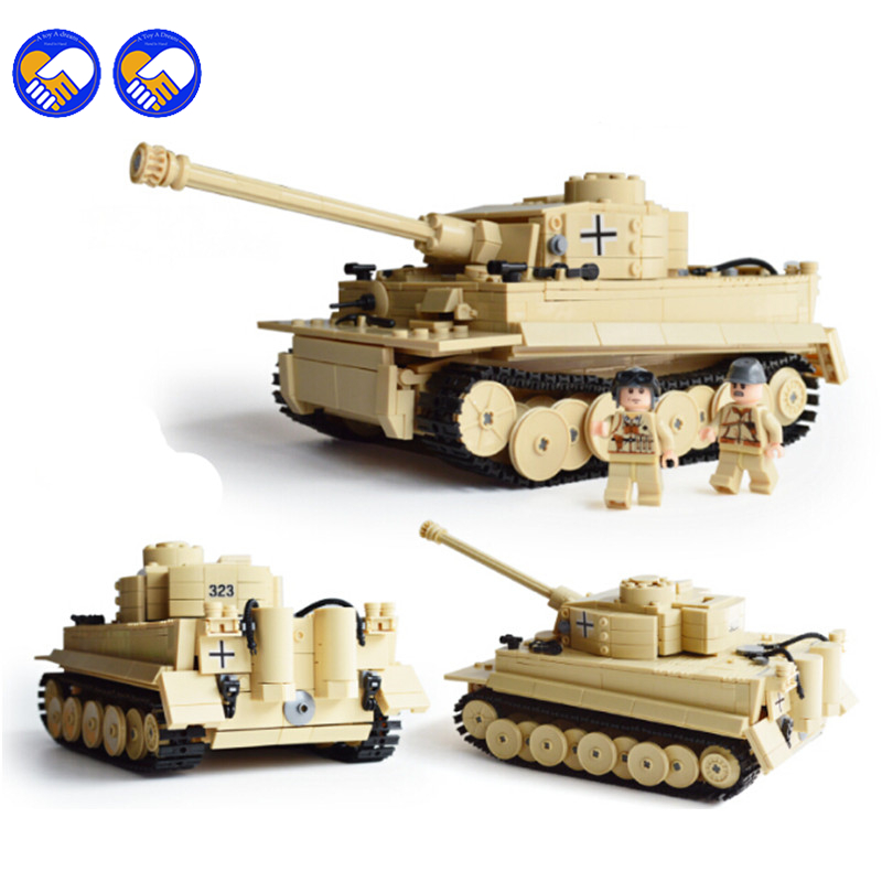 A toy A dream 995pcs Century Military Building Blocks German King Tiger Tank Enlighten Blocks Eduction Toys Christmas gift toy a toy a dream 2017 new free shipping decool 3331 large 805pcs exploiture crane model enlighten plastic building blocks sets