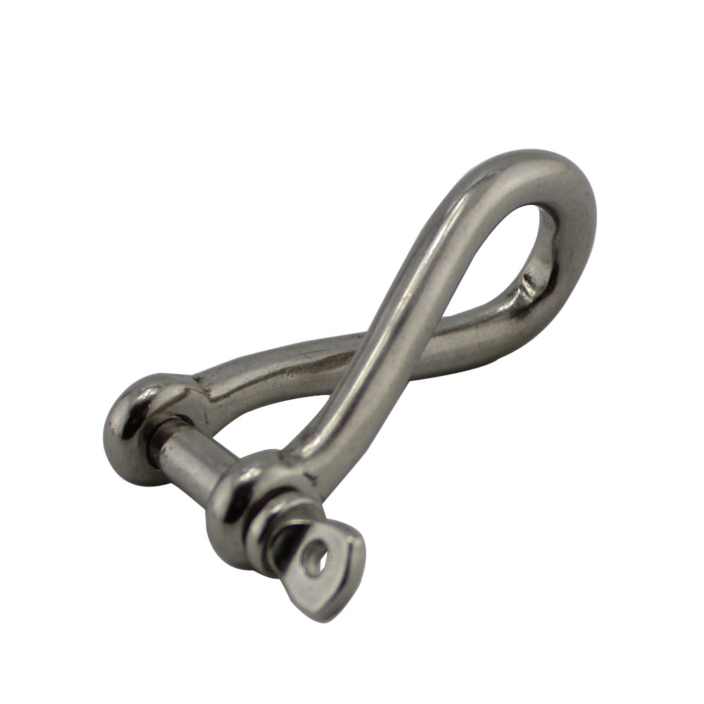 10 Pcs 5mm 6mm Twisted Shackles Rigging Marine Hardware Marine Grade 316 Stainless Steel Anchor Twist Hooks in Hooks from Home Improvement