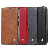 For Google Pixel 2 XL Vintage Case Luxury PU Leather Flip Wallet Stand Cover Phone Bag