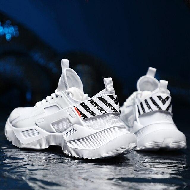 プラスサイズ 39 46 男性スニーカーカジュアルお父さん靴分厚い通気性軽量快適なトレーニングファッション男性靴 # ABG79