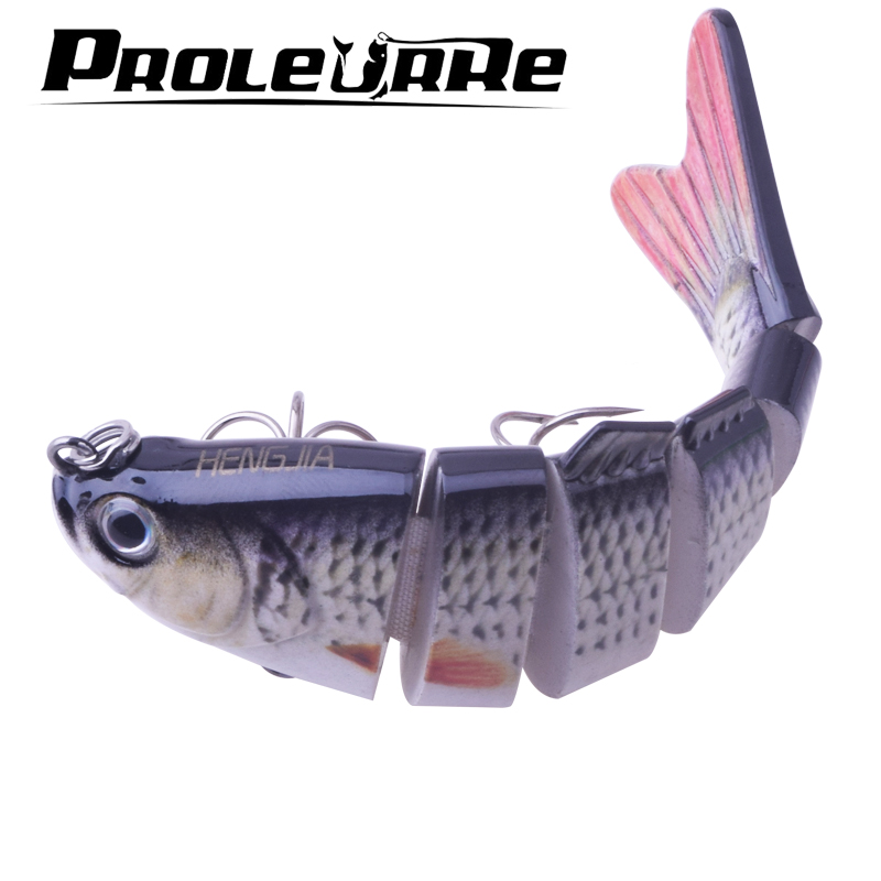 Fishing Wobbler Lifelike Fishing Lure 6 Segment Swimbait Crankbait Hard Bait Slow 10cm 18g Isca Artificial Lures Fishing Tackle 1ps minnow fishing lures deep isca artificial wobbler crankbait for fish lure hard fake bait pesca tackle hooks sea 14 5cm 12 7g