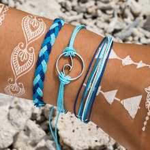 Hot Sale 3pcs/Set Handmade Colorful Cotton Rope Surfer Bracelets Popular Boho Charm & Bangles For Women Men