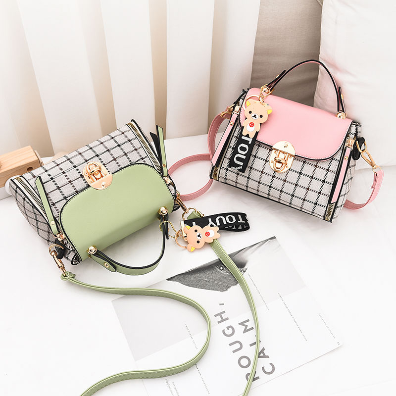 New Cute Type Ladies PU Handbag High Quality 2019 Hot Sale Small Girls Exquisite Color Matching Casual Fashion Small Square Bag 4