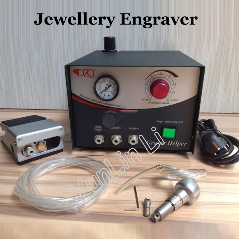 Jewelry Engraving Machine Hand Pneumatic Engraving Graver Single Ended Gold Farming Tools Jewellery Apparatus