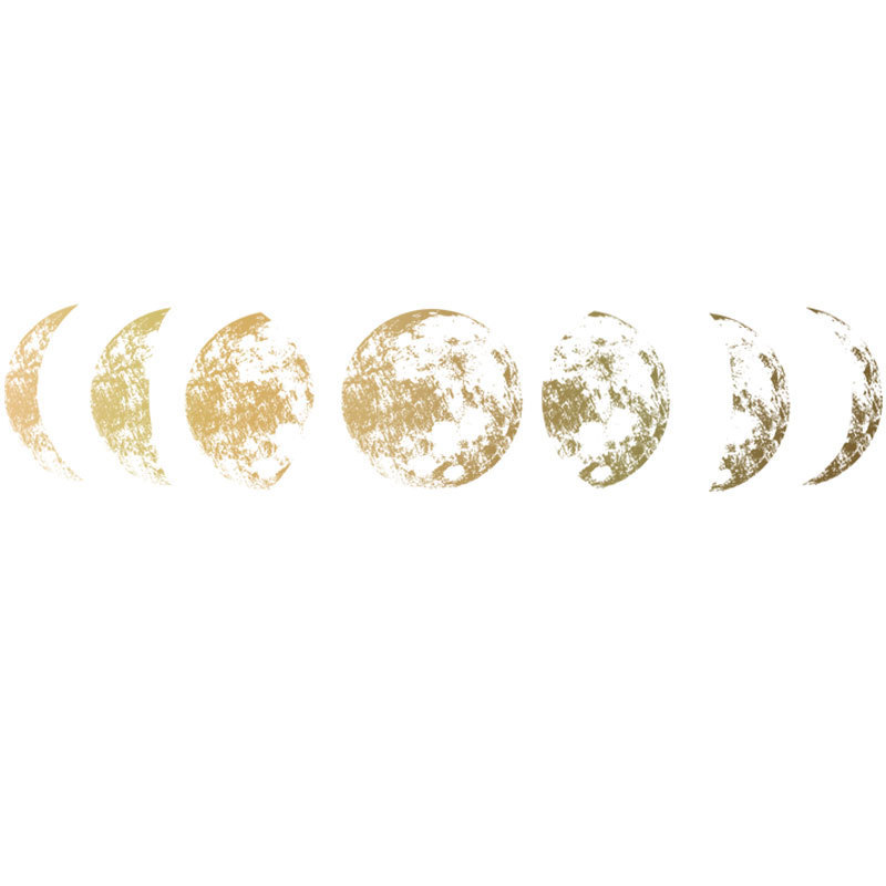 Креативные 3D настенные Стикеры с фазой Луны для дома, гостиной, настенные украшения, фрески, художественные наклейки, фоновый декор, наклейка с Луной и звездой Наклейки на стену      АлиЭкспресс