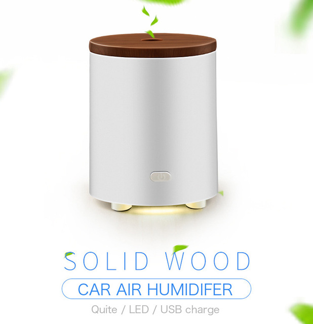 Wood Cover Aromatherapy Essential Oil Diffuser Portable Ultrasonic Cool Mist Aroma Humidifier with LED Lights Changing