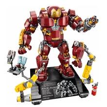Fit Marvel 76105 Super Heroes Iron Man Anti Hulk Hulkbuster Mecha Set 1527Pcs Building Blocks Toys for Children Gifts