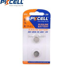 Image 2 - 12 Pièces 6 Carte AG9 Batteries LR936 LR45 194 936 936a 394a 394 SR936SW LR936 Piles Bouton 1.5V pile de Montre
