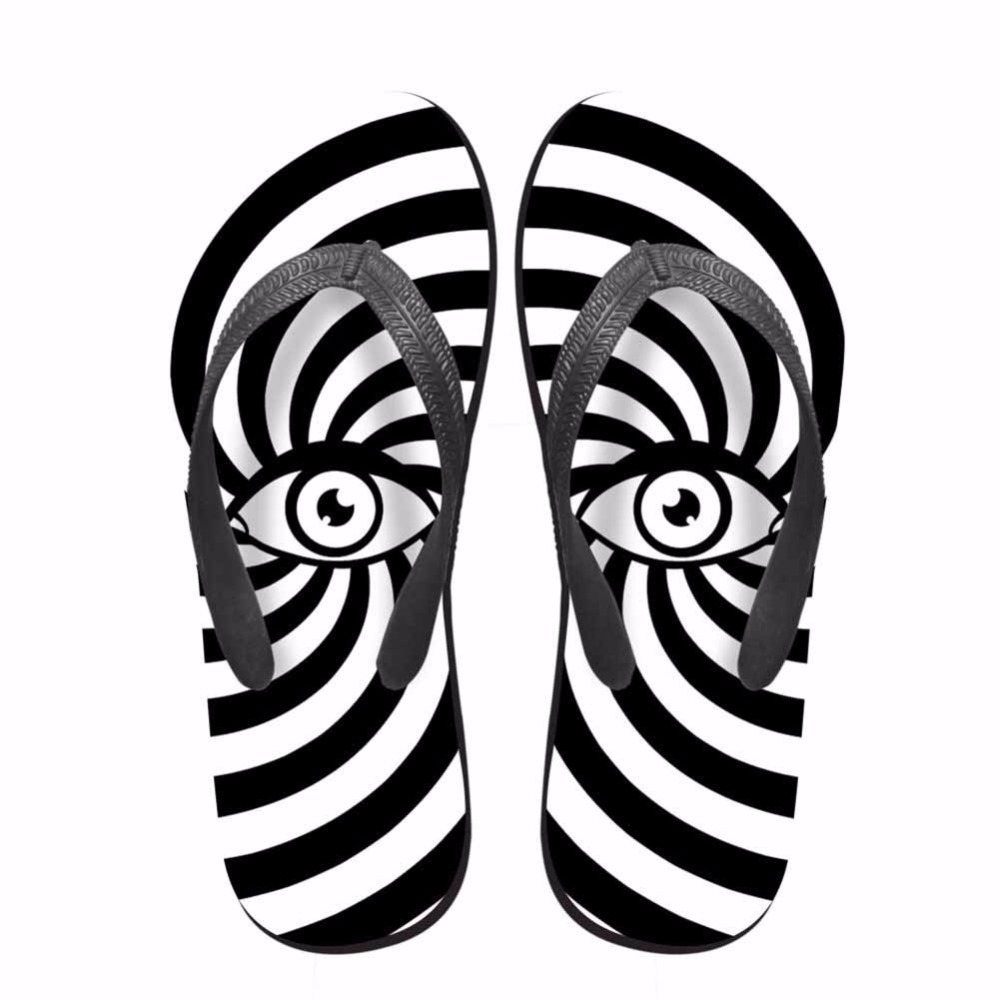 Noisydesigns Colorful striped eyes man shoes printed tongs homme - Men's Shoes - Photo 3