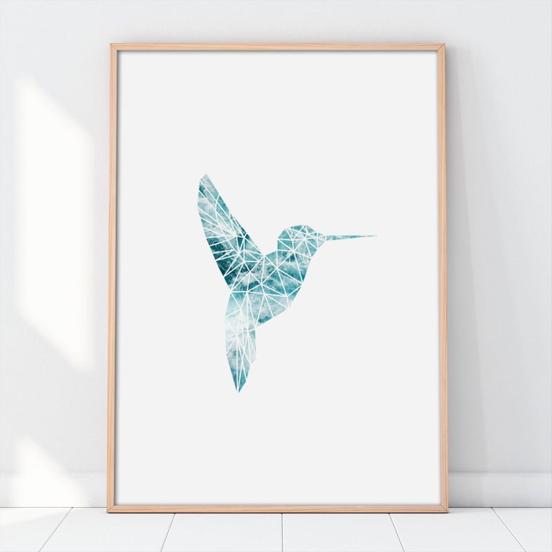 Scandinavia Bird Seascape Wall Art Canvas Poster Print Original Nordic Decoration Painting Decorative Picture in Painting Calligraphy from Home Garden