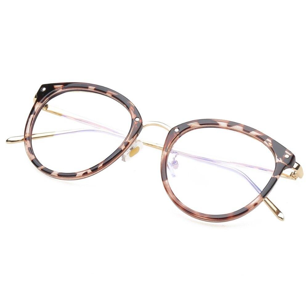 Eyeglasses Eyewear Frame Fashion Sort Vintage Metal Optical Frame - Beklædningstilbehør - Foto 3