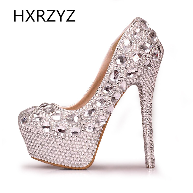 Women Shoes Pumps Handmade Female Noble Diamond Wedding Shoes Sexy Fashion  Womenu0027s High Heels Dress Shoes. 12