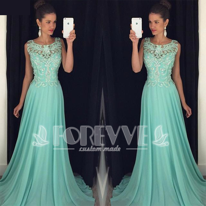 Shining Beaded Crystal   Prom     Dress   2019 Sheer Appliques A-Line Formal Party   Dresses     Prom   Gowns Vestidos De Fiesta Abendkleider
