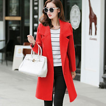 Coats Top Promotion Full Solid Extra Turn-down Collar Autumn And Season 2017 Korean Women's Wool Coat Slim Female Size Long Ick