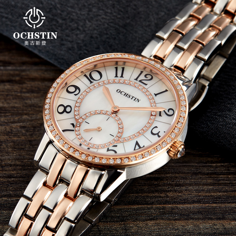Fashion OCHSTIN Watch Women Clock 2016 Gold Wrist Watches Ladies Famous Luxury Brand quartz-watch Relogio Feminino Montre Femme hot relogio feminino famous brand gold watches women s fashion watch stainless steel band quartz wrist watche ladies clock new