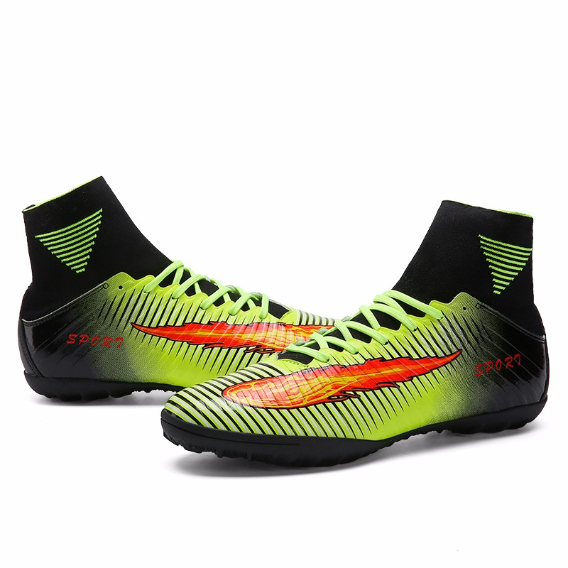 2017 High Quality Cheap Indoor Soccer Shoes Cleats High Ankle Kids Football Boots Superfly Original Boys Girls Sneakers16