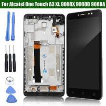 LEORY Für Alcatel One Touchs A3 XL 9008X 9008D 9008A Mobiltelefon Touchs Bildschirm + LCD Display Assembly + Tools Ersatz(China)